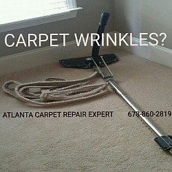 Carpet power stretching is the affordable option.
