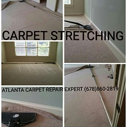 Carpet stretching extends the life of the carpet